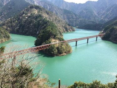 静岡吊り橋巡りで絶景の「夢の吊橋」と「奥大井湖上駅」を空中散歩